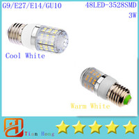 50x G9 E27 E14 GU10 Led Corn Lamp 3528SMD 48LED(3W) Led Ligh...