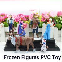 Wholesale Frozen Cartoon Figures Piece Set PVC action Figure Play Set Anna Elsa Hans Kristoff Sven Olaf Kids Toy