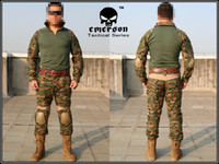 Camping & Hiking Men Spring Wholesale-EMERSON Gen2 Combat Suit&Pants shirt+pants MAPART Digital Woodland free ship
