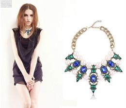 Wholesale New arrive elegant style stone necklace crystal bib statement necklace bridmaid necklace