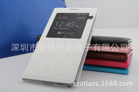 Wholesale Factory stock Samsung note3 dimensional pattern leather N9006 windows smart phone protective sleeve dormant