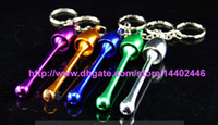 bending aluminum pipe - 1200pcs Tobacco Mini Key chain Keychain Mushroom Tobacco Pipe Ultimate Pipe Mini Aluminum Metal Smoking Keychain Pipe Gift Mixed Colors