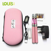 1100mah Non-Adjustable  eGo Kit CE4 Double Kit E Cigarette Zipper Case Pack Grade A Battery Cell Promotion Wholesale