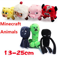 Multicolor sheep plush - 2014 styles Minecraft plush toys stuffed dolls Mooshroom squid Enderman creeper sheep cow pink pig quot Baby Pig Piggy Stuffed animals