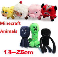 stuff - Hot sale styles Minecraft stuffed dolls creeper Enderman sheep Mooshroom squid cow pink pig quot Baby Pig Piggy Stuffed animals plush toys