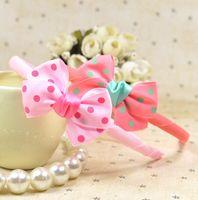 Wholesale OUTLETS Fashion jewelry cloth art princess Headdress Dot bow hair ribbon Children s jewellery girls hair band discount XC