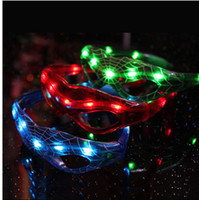 Wholesale OP Halloween props Bat LED Flashing Sun Glasses Party Bar mask Glasses Blinking NEW