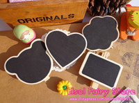 Wholesale Mix Design Wooden Blackboard Clip Chalkboard Clips Bear Claud Heart Rectangular clip