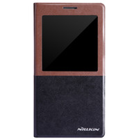 Wholesale Samsung NOTE3 smart windows smart phone holster n9000 dormant gold leather phone protective sleeve Nile