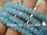 Wholesale x8mm Faceted Brazilian Blue Topaz Gem Loose Beads pc fashion jewelry