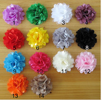 Wholesale Cheap Fancy Tops - Baby Flower Headband Accessories Fancy Lace Hairband Mulit Color DIY Baby Flower Headbands Top Quality Cheap Price 50PCS LOT 14 colors