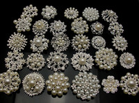 Wholesale 10P SILVERX Mixed Bulk Silver Plated Wedding Bridal Crystal Pearl Brooches Brooch Bouquet Faux Pearl Diamond