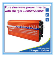 Wholesale 12V to V W Pure Sine Wave Power Inverter With Buildin Charger with Automatic Transfer for solar inverter car inverter