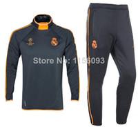 13/14 top ropa de entrenamiento Tailandia RealMarid Champions League tracksuits Cristiano Ronaldo jerseys del fútbol de los cortocircuitos