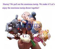 Cheap 5set lot Children toys  13Pcs Soft Educational Plush Puppet  Enormous Turnip Educational Story-telling Finger Toys 12342