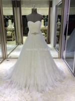 Ball Gown Model Pictures Sweetheart ball gown wedding dresses Lace Floor-Length real photo vestido de noiva 2014