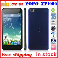 Cheap Wholesale - Original ZOPO ZP1000 MTK6592 Octa Core Ultrathin Mobile Phone 5.0 inch Android 4.2 1GB RAM 16GB ROM 14MP 3G phone OTG Russian--f