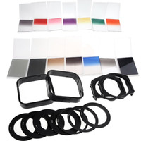 Wholesale 2014 NEW in Complete Square Filter Kit for Cokin P Series Adapter Rings Filter Holders Lens Hoods Cleaning Cloth