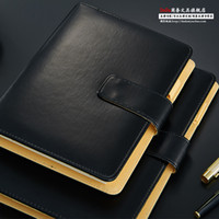 Wholesale Leather a5 general commercial loose leaf notebook tape calculator manager folder customize