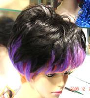 Wholesale chaming elder women s gray brown healthy Hair wig