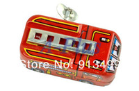 Cheap 10pcs lot New Unisex 80's Classic Toys Tin Fire Truck Winding-power For Collection Red 12436