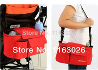 Cheap Wholesale-OP-DX001 Multifunction Bag with Good Quality Trolley Baby Stroller Car Storage Bag Mama Bag Nappy Diaper Shopping Bag FREE SHIPPIN