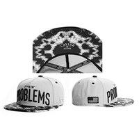 Wholesale White Cayler Sons Snapbacks Problems Letter on Hats Cheap Ball Caps Brand Snap Back Hats Best Quality Hip Hop Hats Sports Caps