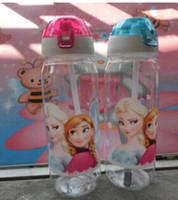 big bottle water - Big discount Children Cup Cartoon Frozen Elsa Anna PP Texture Suction Cup with drinking straw water bottle