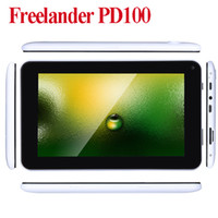 Wholesale Freelander PD100 quot Tablet PC Android Allwinner A13 Cortex A8 GHz MB GB MP MP bb Camera WiFi GPS MID PAD
