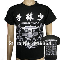 Men art shaolin kung fu - Shaolin temple kung fu fans t shirts cotton Wushu martial arts training jacket