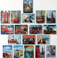 metal wall art - 2014 fashion cm Route us classic bus motorcycle Tin Sign Coffee Shop Bar Restaurant Wall Art decoration Bar Metal Paintings