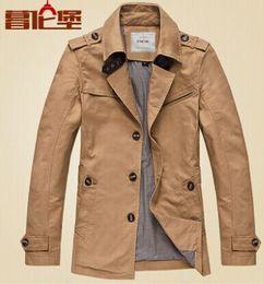 Wholesale Men s Fashion Casual Winter coat Cotton Coat Business Casual Jacket College style outwear Size M L XL XXL