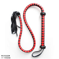 adult novelty products - Long Leather Whip Adult Games Lasher BDSM Fun Novelty Flogger Sex Slave Roleplay Spanking Sex Toys For Couples Sexy Product Sexual Abuse