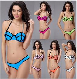 2016 style swimwear Women lady Bikinis Neoprene Bikinis SWIMSUIT Set push up bikini set sexy Swimwears free shipping