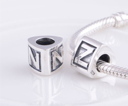 alphabet beads fit pandora bracelet jewelry 925 sterling silver Beads With european Style Charm Bracelets 2014 NEW The 26 English letters
