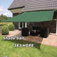 Wholesale Sun Sail Shade Awning Shelter Canopy Cover HDPE Square X3 M