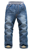 Wholesale 2014 winter kk rabbit childrens boys velvet thickened denim jeans long pants trousers
