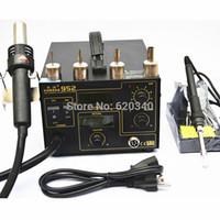 Cheap Free Shipping New Arrival 220V Gordak 952 SMD Rework Station Desoldering Station Hot Air Gun Heat Gun