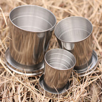 Wholesale OP New Arrival ML Stainless Steel Travel Camping Hiking Folding Collapsible Cup