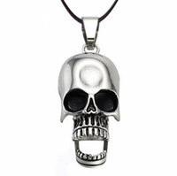 Beaded Necklaces Men's Fashion High Quality Fashion Men Jewelry Stainless Steel Skull Chain necklaces & pendants Items For Gift New 2014