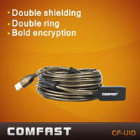 Cheap Comfast CF-U10 10M USB extension ling high speed usb cable with usb signal power amplifier free shipping wireless usb adapter