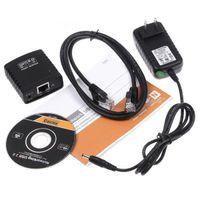 Cheap Network USB 2.0 LPR Print Server Hub Adapter Ethernet LAN Networking Share,Free Shipping+Drop Shipping Wholesale