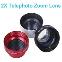 Cheap Hot Sale!Universal 2X Telephoto Zoom Camera Lens Magnetic Adhesive Detachable Mobile Phones Lens for Iphone Samsung HTC Ipad