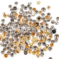Wholesale 50g Watch Head Spare Crowns Part Accessories Repair Tool Watchmaker Random Size Gold Sliver Mixed Set Kit order lt no track