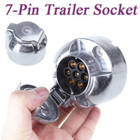 Wholesale Tirol Pin Connector Trailer Socket Heavy Duty Round Wiring Socket V Towbar Towing Caravan Truck Socket Vehicle End N Type