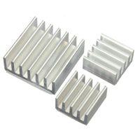 Wholesale 10set Adhesive Aluminum Heatsink Radiator Cooler Kit For Cooling Raspberry Pi New Heat Sink Fans