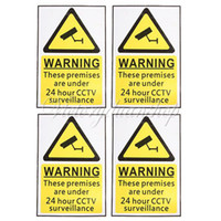 Wholesale New Hour CCTV Security Surveillance Stickers Camera Warning Signs Decals