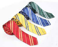 Wholesale 2014 New Color Harry Potter tie Unisex Men s Fashion necktie Hogwarts School neckwear striped ties prop
