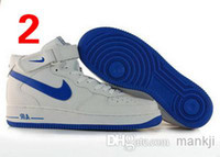 Wholesale 2014 Nike Men Sports SkateBoard Shoes Famous High Men Trainers Air Force Sneakers AF1 Skateboarding Shoes Air force one Size