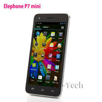 Wholesale NEW Elephone P7 MINI INCH ips MTK6582 Quad Core G G Android OS Dual SIM Dual Camera Smart Cellphone DHL free shiping
